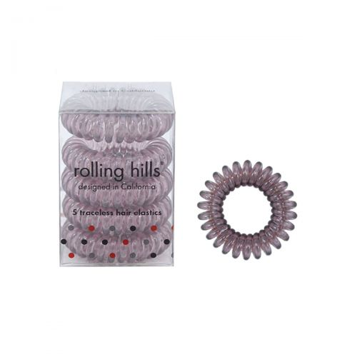 Rolling Hills Professional Hair Rings 5pc Dark brown